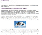 The Blank Flag - Choosing the right crisis communication strategy